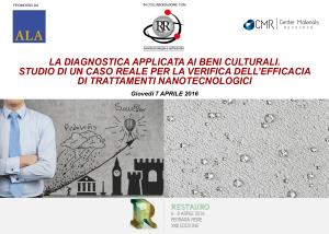 seminario nanotecnologie restauro - salone restauro ferrara 2016