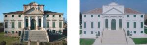 Villa Morosini prima e dopo restauro
